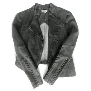 Helmut Lang Asymmetrical Cropped Jacket in Gray